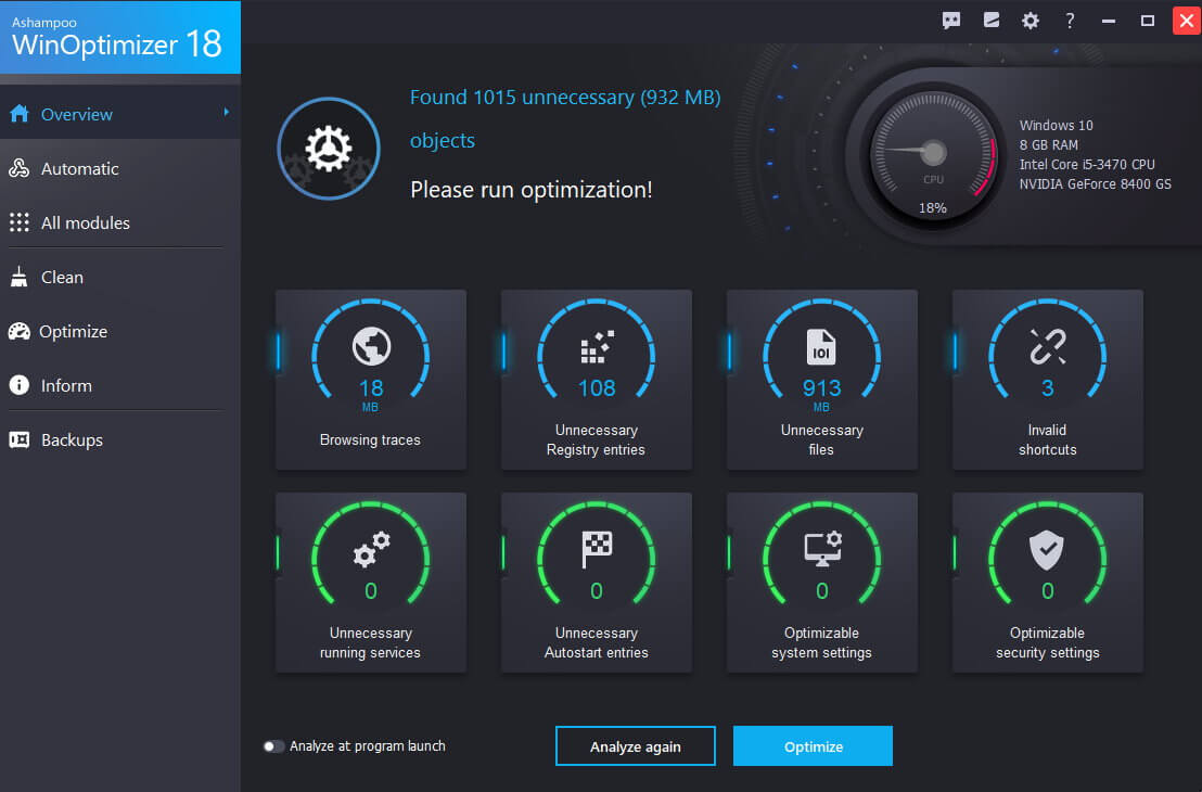 Ashampoo WinOptimizer 18.00.18 Crack With Serial Key Free Full Version Download (Latest)