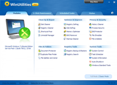 WinUtilities Pro 16 Crack With Serial Key Download
